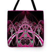 Psychedelic Rollercoaster Tunnel Fractal 65 Tote Bag