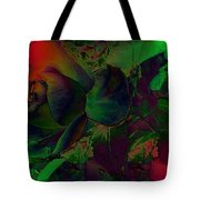 Psychedelic Rose Tote Bag