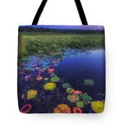 Psychedelic Shore - Great Meadows Nwr Tote Bag by Sylvia J Zarco