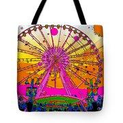 Psychedelic Sky Wheel Tote Bag