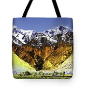 Psychedelic Southern Alps New Zealand Tote Bag