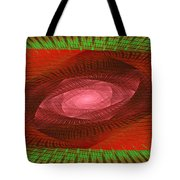 Psychedelic Spiral Vortex Green And Red Fractal Flame Tote Bag by Keith Webber Jr