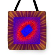 Psychedelic Spiral Vortex Yellow Blue And Red Fractal Flame Tote Bag