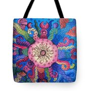 Psychedelic Squid 2 Tote Bag
