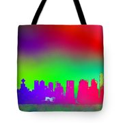 Psychedelic Vancouver Skyline Triptych Centre Tote Bag