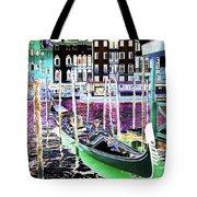 Psychedelic Venetian Scene Tote Bag