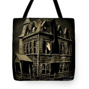 Psycho Mansion Tote Bag by John Malone