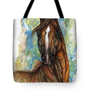 Psychodelic Chestnut Horse Original Painting Tote Bag