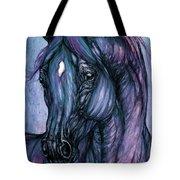 Psychodelic Deep Blue Tote Bag