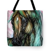 Psychodelic Pink And Green Tote Bag