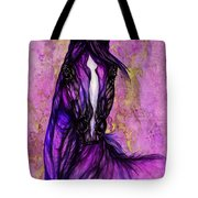 Psychodelic Purple Horse Tote Bag