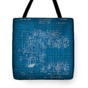 Pt Farnsworth Television Patent Blueprint 1930 Tote Bag