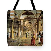 Public Prayer In The Mosque  Tote Bag by Jean Leon Gerome