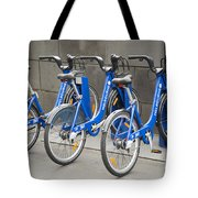 Public Shared Bicycles In Melbourne Australia Tote Bag