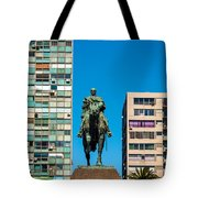 Public Statue Of General Artigas In Montevideo Tote Bag
