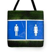 Public Toilet Sign Tote Bag