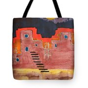 Pueblito Original Painting Tote Bag