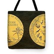 Pueblo Of Acoma Tribe Code Talkers Bronze Medal Art Tote Bag