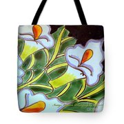 Calla Lillies Splashed Tote Bag