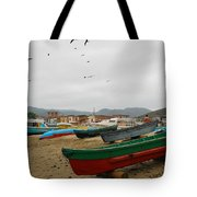 Puerto Lopez Beach And Boats Tote Bag