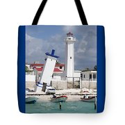 Puerto Morelos Lighthouse Tote Bag