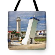 Puerto Morelos Lighthouses Tote Bag