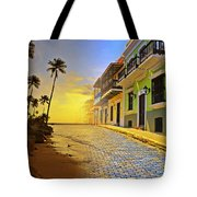 Puerto Rico Collage 2 Tote Bag by Stephen Anderson