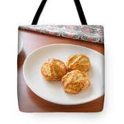 Puff With Chicken Mushrooms And Sesame Tote Bag