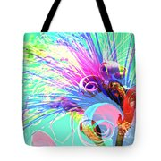 Puffy Bloom W Bee Abstract Tote Bag