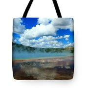 Puffy Clouds And Hot Springs Tote Bag