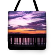 Puffy Sunset Tote Bag