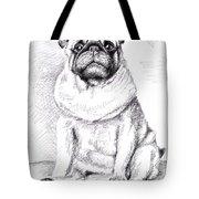 Pug Anton Tote Bag