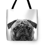 Pug Dog Square Format Tote Bag