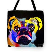 Pug Power Pup I Tote Bag