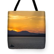 Puget Sound Evening Tug Tote Bag