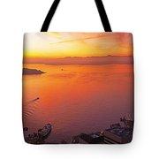 Puget Sound Sunset Tote Bag
