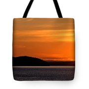 Puget Sound Sunset - Washington Tote Bag by Brian Harig