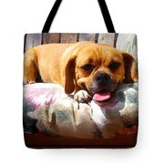 Puggle Lounging Tote Bag