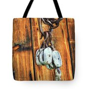 Pulley Hooks And Chain Tote Bag