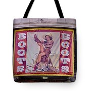 Pulling On Her Boots In Nashville Tote Bag