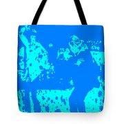 Pulp Fiction Dance Blue Tote Bag