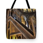 Pulpit In The Aya Sofia Museum In Istanbul  Tote Bag