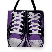 Pumped Up Purple Tote Bag