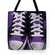 Pumped Up Purple Tote Bag
