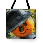 Pumpkin Face Photo Art 06 Tote Bag