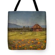 Pumpkin Field Moon Shack Tote Bag