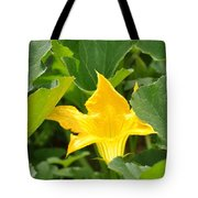 Pumpkin Flower Tote Bag