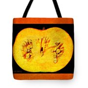 Pumpkin Half Tote Bag