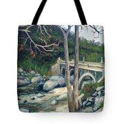 Pumpkin Hollow Bridge Tote Bag