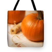 Pumpkin Label Tote Bag